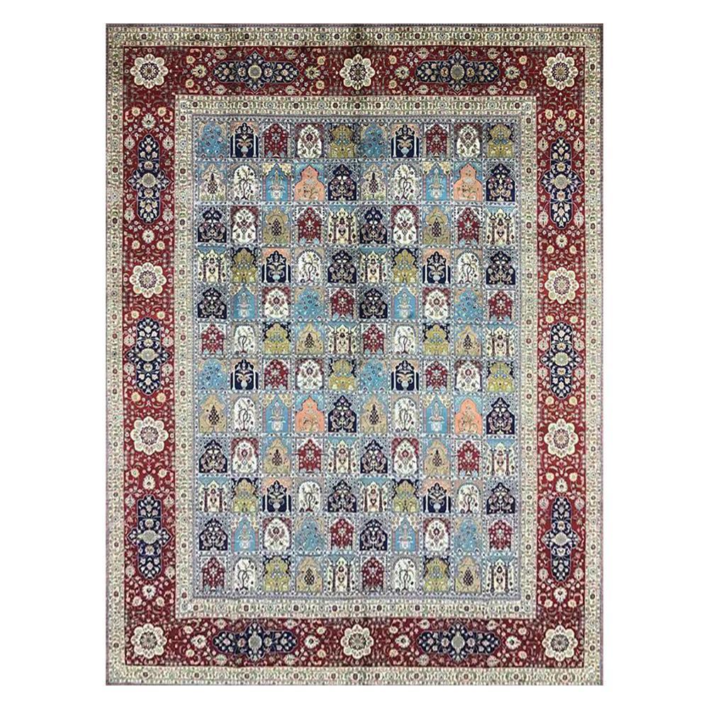 9'X12 'Türkische Hand Geknotete Fläche Teppiche Dekorative Handmade Vier Jahreszeiten Seidenteppich für Salon