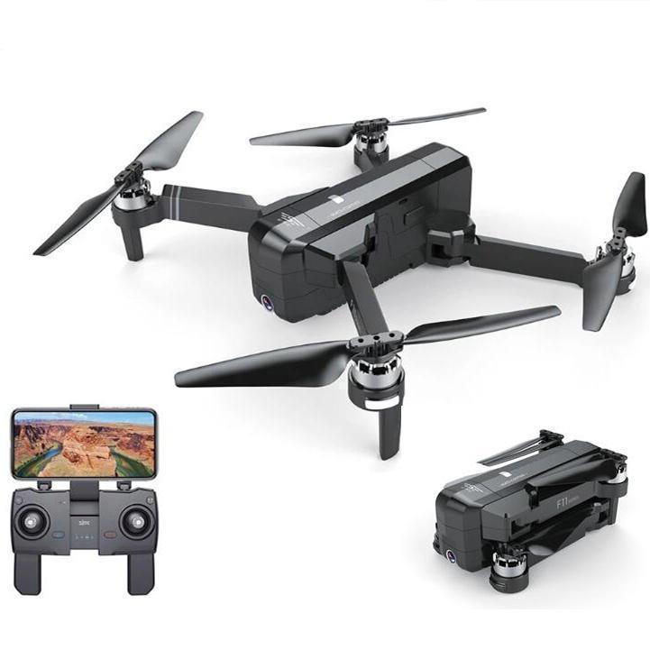RCTOWN SJRC F11 GPS 5G WIFI FPV avec caméra 1080P 25 minutes de vol Temps de vol Wrossless Selfie RC Droncopter