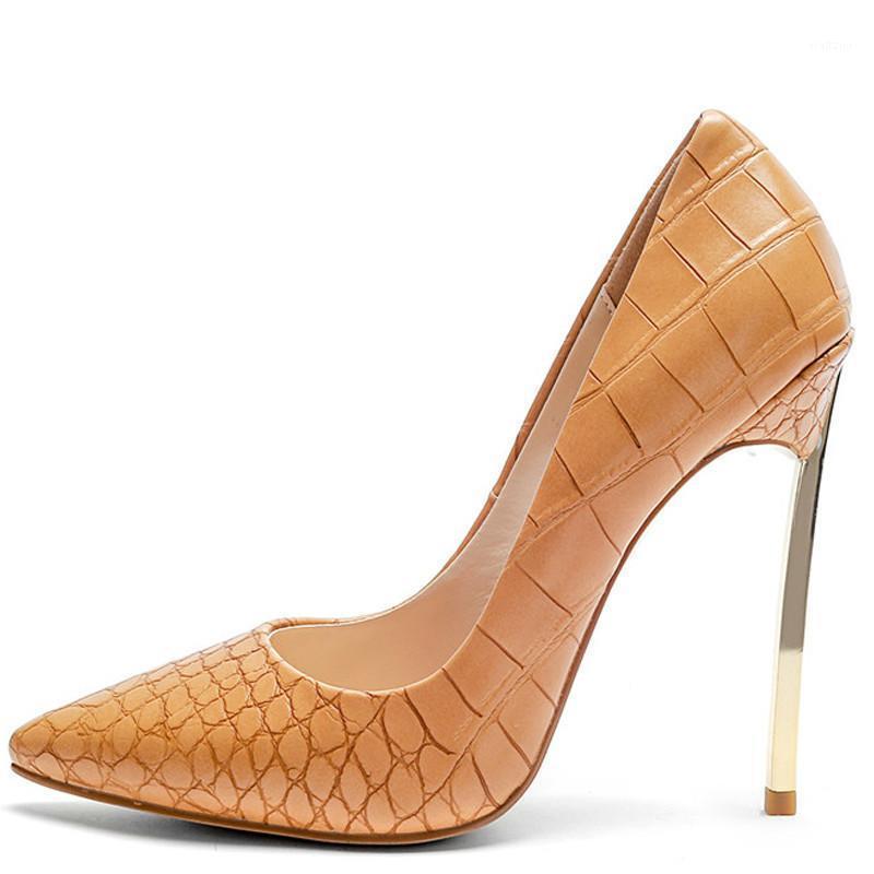 Yefe Damen High Heels Schuhe Sexy Fersen Frau Sei ein Zeh Stiletto Plus Größe 33 43 Haken Metallpumpen Dekoration1