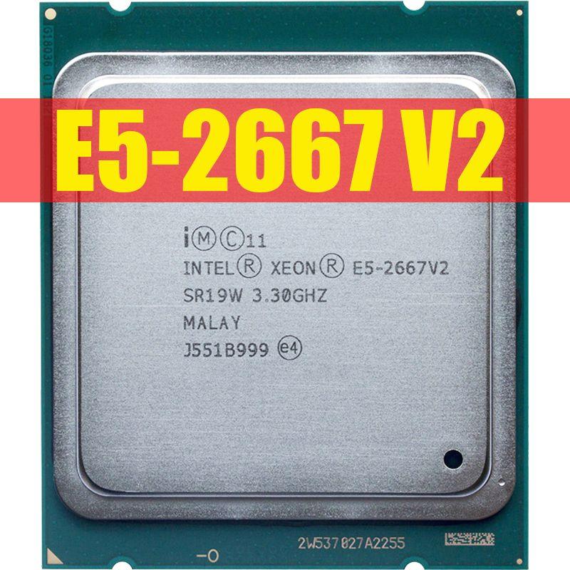 Intel Xeon E5 2667 v2 3.3GHz 8core 16Threads 25MB cache SR19W 130W processador LGA 2011 CPU