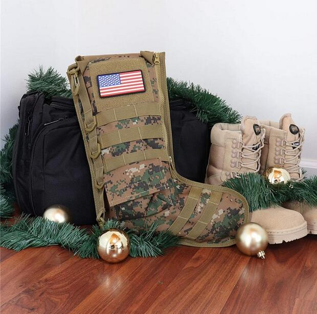 Noël de stockage de bas de camouflage XAMS Sac de rangement tactique Pochette de rangement suspendu pack Hunting Military Combat Magazine Pouch EWC3760