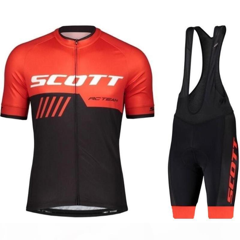 Tour de France Scott Pro Team Cycling Jersey MTB Quick Dry Bike Jersey Traspirante Bicycle Bicycle Manica Corta Camicia da ciclismo Ropa Ciclismo Hombre