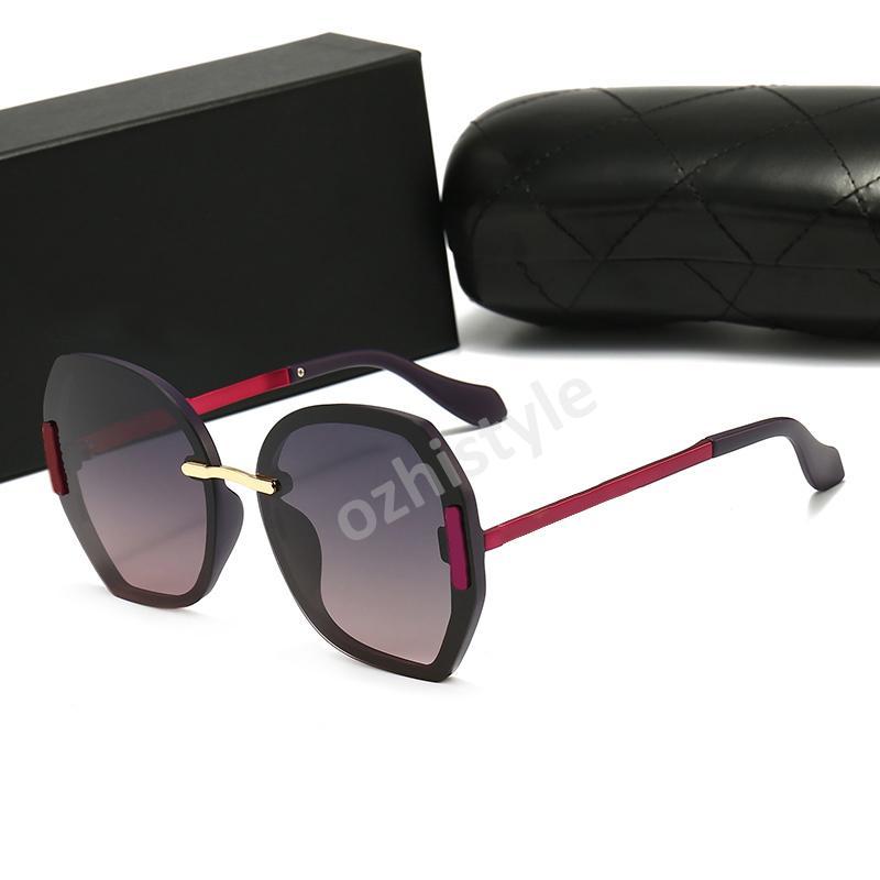 Lunettes de soleil en verre de marque de marque Sunglasses de haute qualité Métal Charnière Sunglasses Hommes Lunettes Femmes Sun Lunettes UV400 Unisexe avec étuis libres et boîte W5