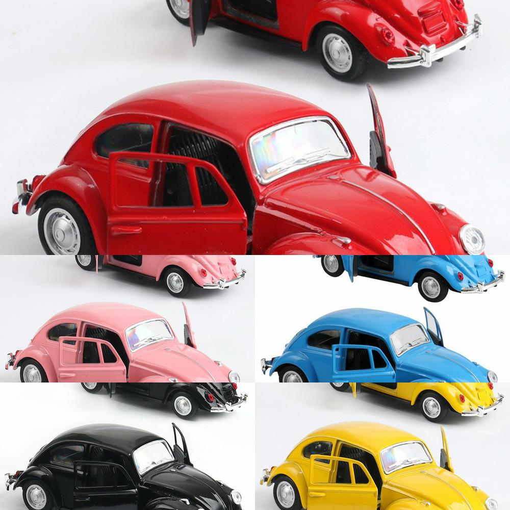 High Simulation Retro Clássico Volkswagen Beetle, 1:36 Alloy Car Modelos, Metal Diecasts, Pull Back Toy Veículos, Frete Grátis Y1201