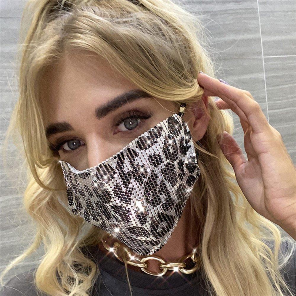 2021 Nuevos accesorios de moda Cristal Diamond Mash Mash Mash Cosplay Ladies Discoteca Discoteca Joyería Máscara brillante Boquilla