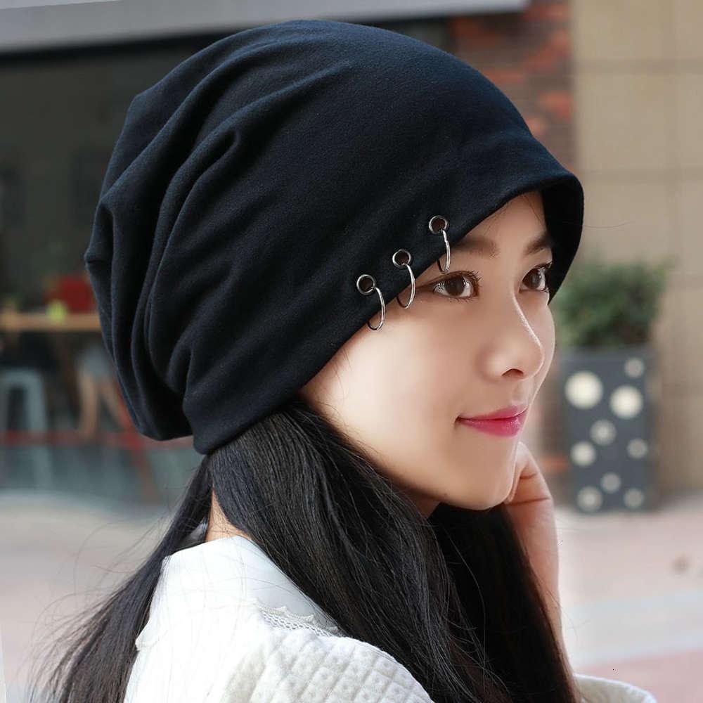 6TMEN's Cabeza de cabeza coreana fresca moda Baotou Big Head Cirezas de cabecera desnuda Aire acondicionado Sombrero de pila de mujeres