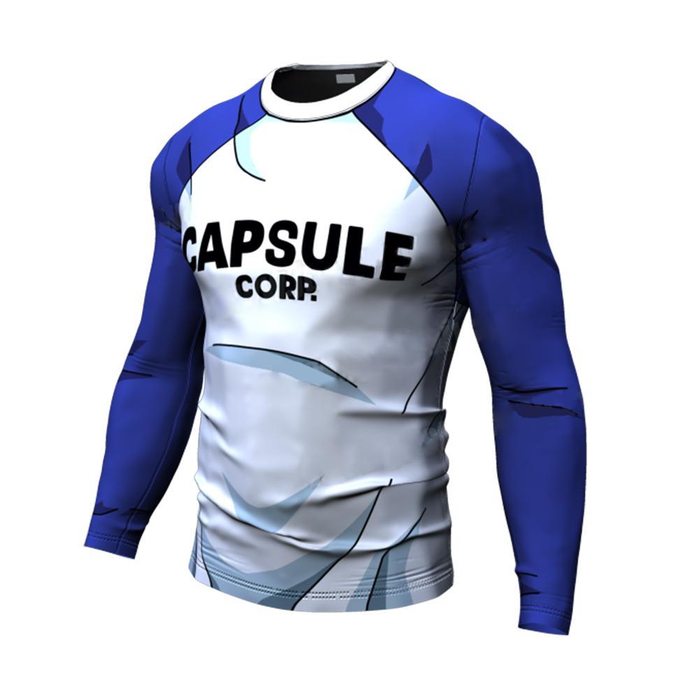 Yeni DBZ Erkekler Yaz T Gömlek Spor Kapsül Corp Dragon B Baskılar Hızlı Kuru Spor Kısa Kollu Erkek T-shirt Erkekler Tees X1214