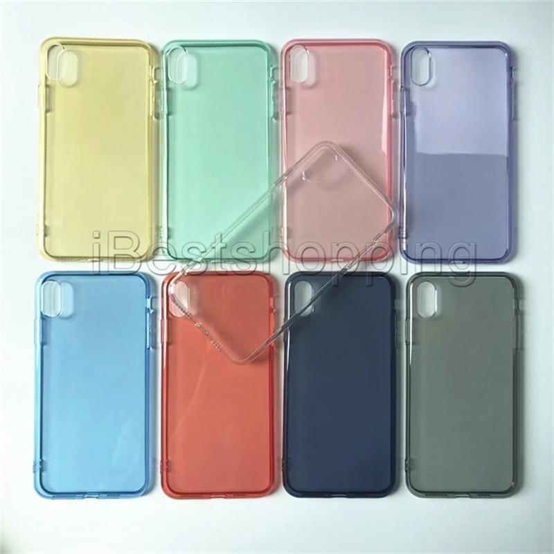 Für iPhone11 PRO MAX CLEAR SOFT TPU Cover Phone Case für iPhone XS Max XR X XS 8 7 6 Plus für Samsung Note10 S10 Plus