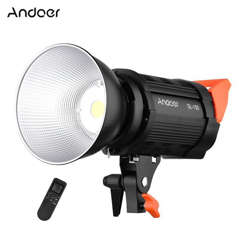 Andoer 150W Video Fokus Licht 5600K Tageslicht Dimmable COB LED Video Light Photography Fernbedienung Für Aufnahmestudio