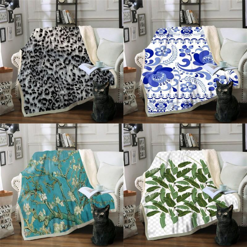 Doppelterdeck Verdickungsdecke Erwachsene Kind Happy New Year Druck Quadratische Sofa Plüsch Decken Bettwäsche 2020 72xb J2