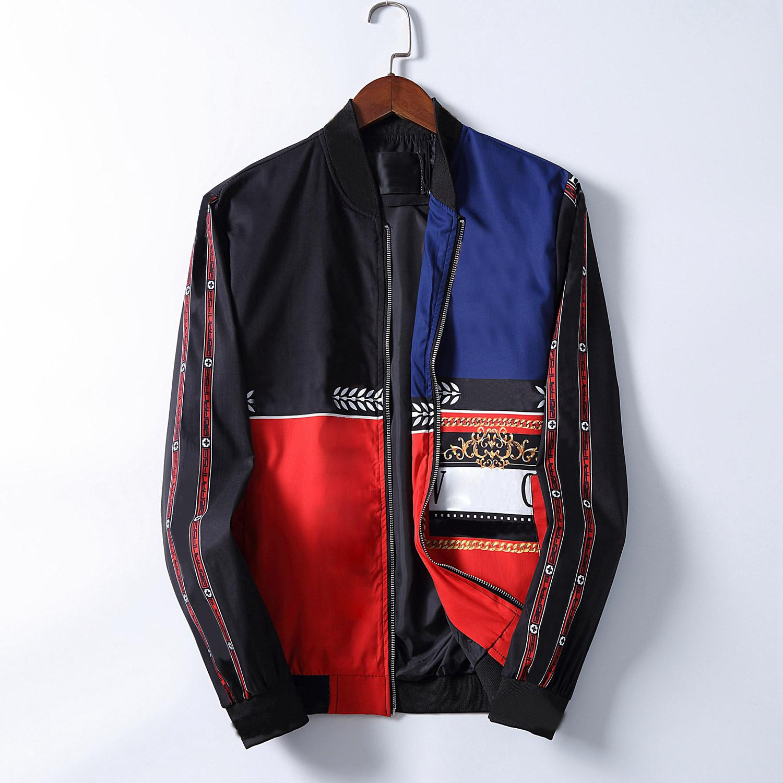Designerjacke für Männer 2020 gestreifte dünne Tasche Herren Windjacken Jacken Casual Baseball Herren Hoodies Jacke und Mantel