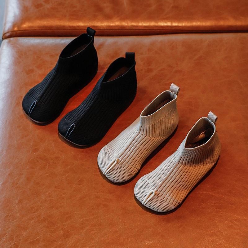 Meninas sapatos botas outono de malha cor sólida bebê menina sapatos crianças botas de tornozelo criança tênis tênis sapatos casuais tamanho 21-30 sz270 201203