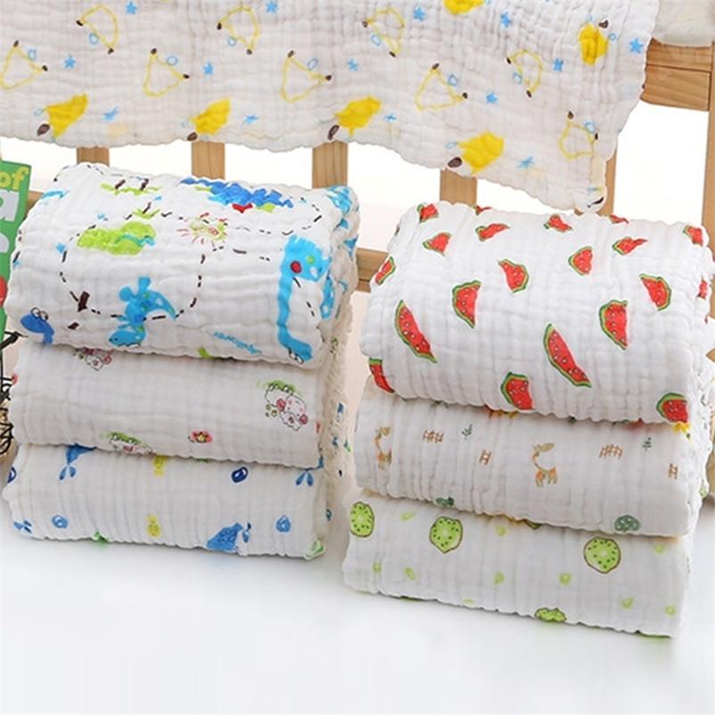 6 camada enrugamento muslin cobertores com 100% algodão swaddle para bebês recém-nascidos banho toalha cobertor bebê crianças cama wrap 201210
