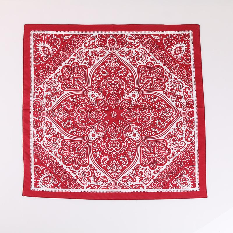 58cm anacardo grande cuadrado bufanda puro algodón hip-hop deportes turbante hip-hop cuadrado bufanda pañuelo ropa accesorios