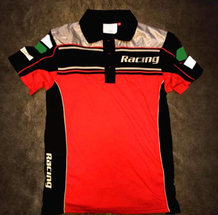 Nueva motocicleta Ciclismo Equipo de fábrica de fábrica de polo camisa de solapa Secado rápido camiseta Versión del conductor Traje de carreras