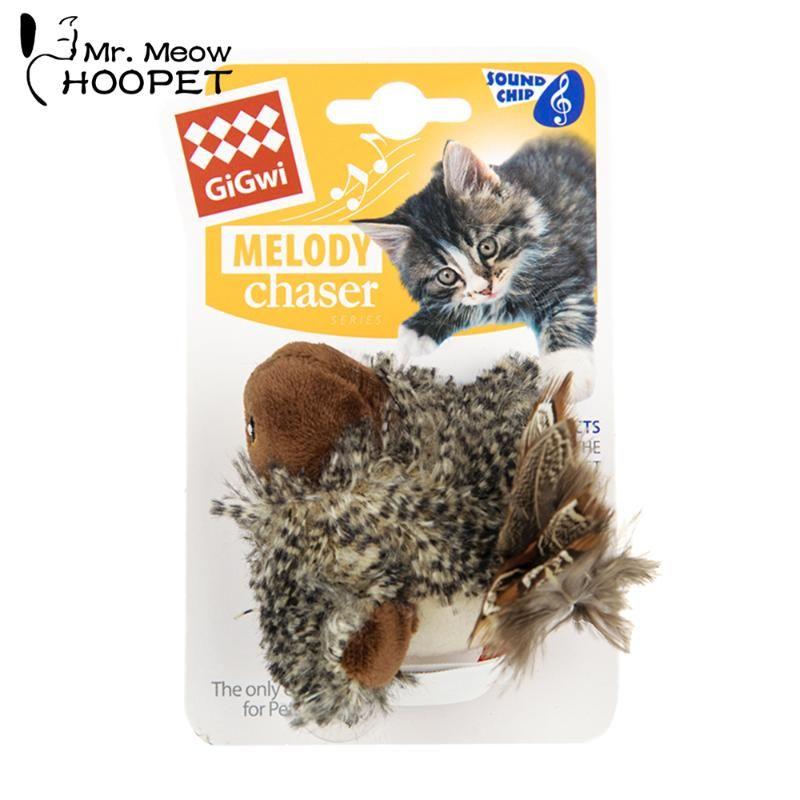 Hoopet Pet Cat Bird Bird Treinamento Interativo Feather Toy Garra Treinamento de Treinamento para gatos mastigação