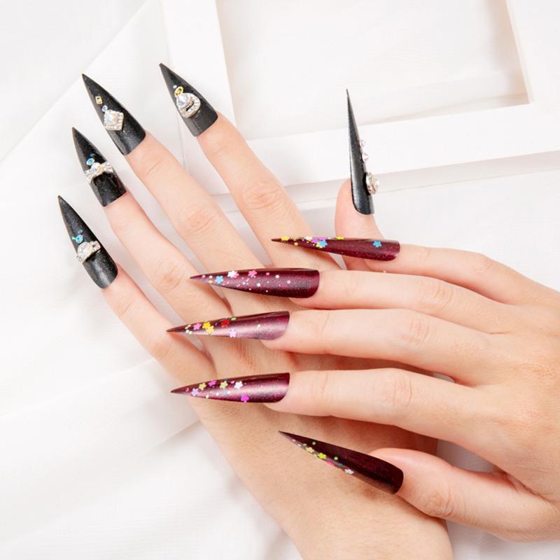 Neue 240 stücke spitz nagelfarbe karte display praxis karte maniküre schnelle phototherapie erweiterte nagel platte gefälschte nägel