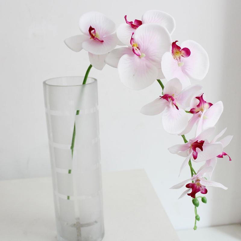 Papillon artificiel Fleur d'orchidée Phalaenopsis Bouquet de mariage