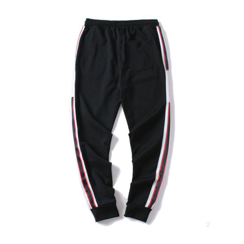 남성 조깅 바지 GC 새로운 브랜드 졸라 매는 끈 스포츠 바지 높은 패션 4 색 사이드 스트라이프 디자이너 p1DSUJ