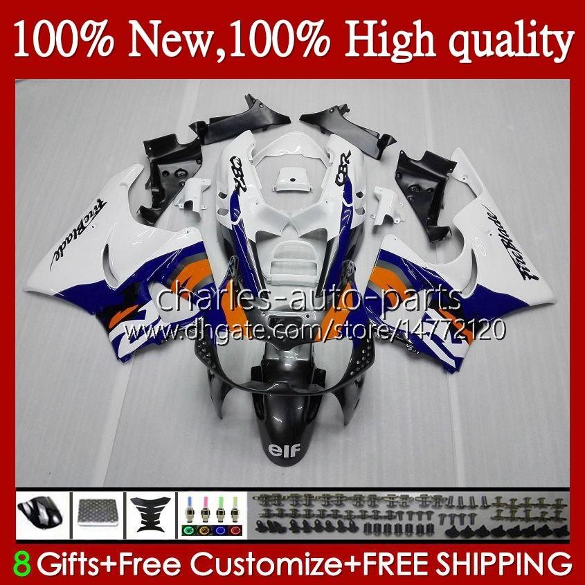 Kropp för Honda CBR 893RR 900RR Blue White New CBR900 CBR893 900 893 CC RR 95HC.8 CBR900RR 1994 1995 1996 1997 CBR893RR 94 95 96 97 Fairings