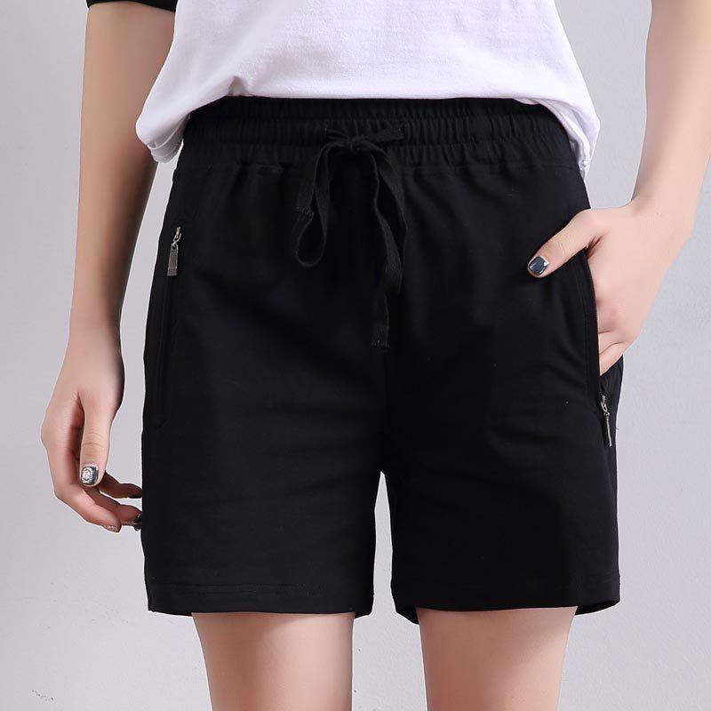 2019 nuevas mujeres de verano casual pantalones cortos de alta calidad de la moda para las señoras pantalones cortos de algodón Y200623