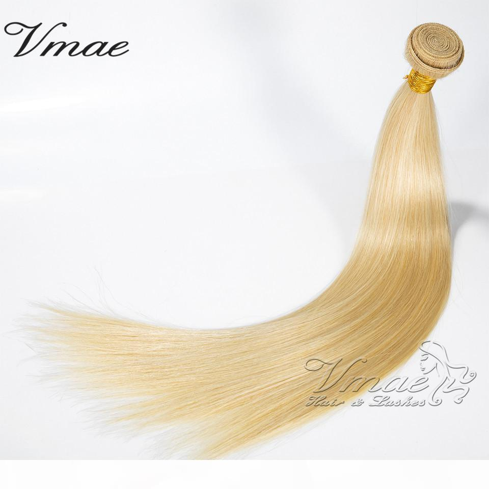 100% sin procesar Brasileño Remy Remy Human Hair 613 Rubia 3 unids LOTE 11A Tejidos Blonde Brasil Pelo Extensiones de Pelo Bundles