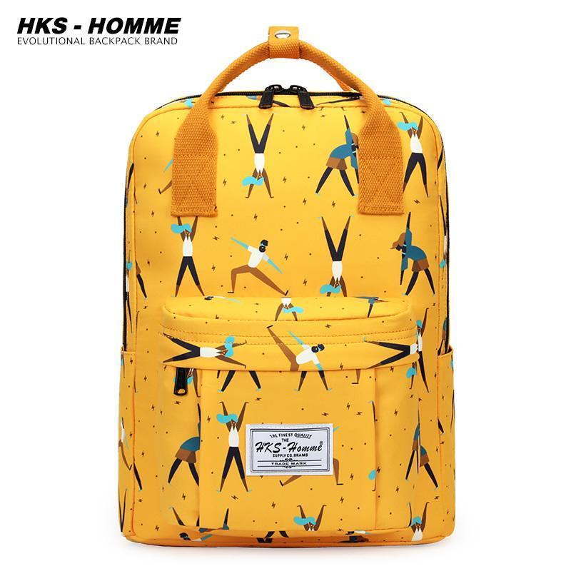 Fashion 2020 New Women Canvas Backpacks Waterproof School Bags for Teenagers Girls Big Cute Laptop Backpack Mochilas Q1113