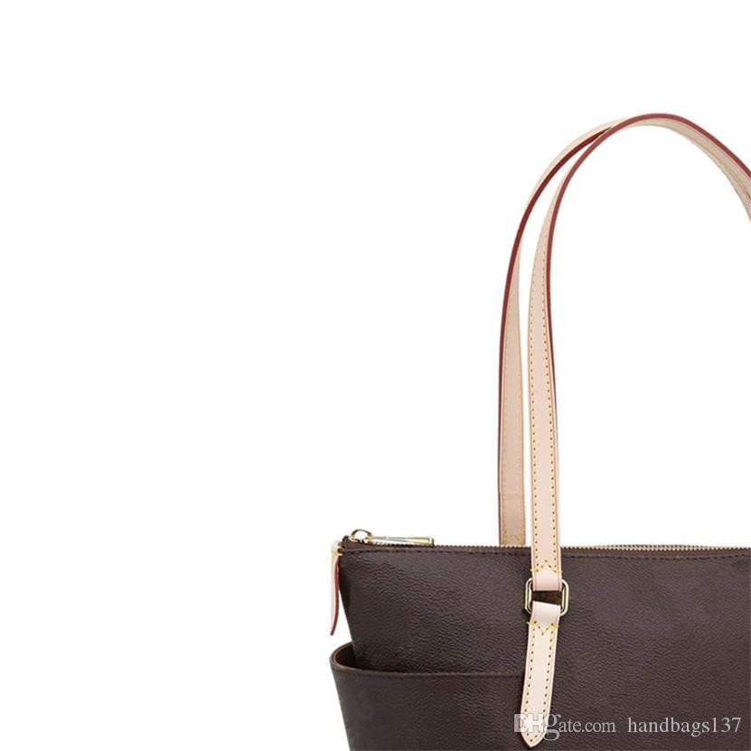 Tote Bag Braun Taschen Rucksack Womens Mode Frauen Tote Totes Tasche Kupplung Totes Handtasche Leder Brieftasche Geldbörsen Taschen 41016 40cm CG01-7 GAMNC