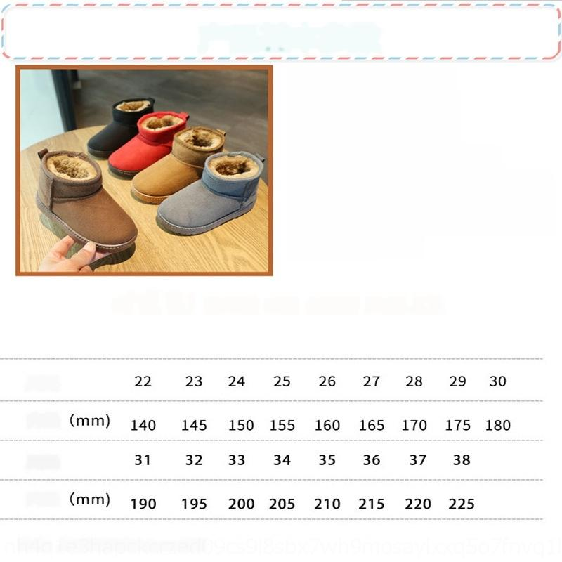 re13 Kids Snow BootsUOVO #29-38 Boots Repellent New Arrival Children Warm Boots Girls With Plush Lining Winter 201027
