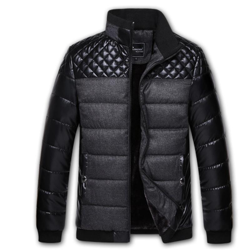 Escudo de hombres Ropa de invierno de los hombres Parkas ocasionales adelgazan las chaquetas abrigos Parka con capucha de los hombres del Norte Facce chaqueta de los hombres Parka Hombre Abrigos Y1112