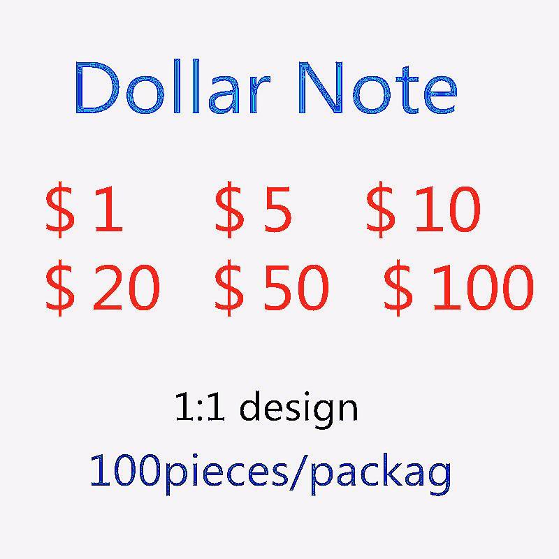 Billete de banco simulado Explosión de dólares estadounidenses Falsifit Bill Party juego Token Toy Ups Fast Shippingsimuled Paper Moneda 100 US Dollar 955