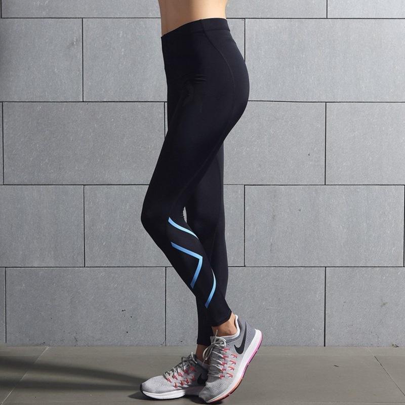 Компрессионные спортивные колготки бегущие йоги высокие эластичные фитнес брюки женские баскетбольные тренировки быстрые сухие леггинсы