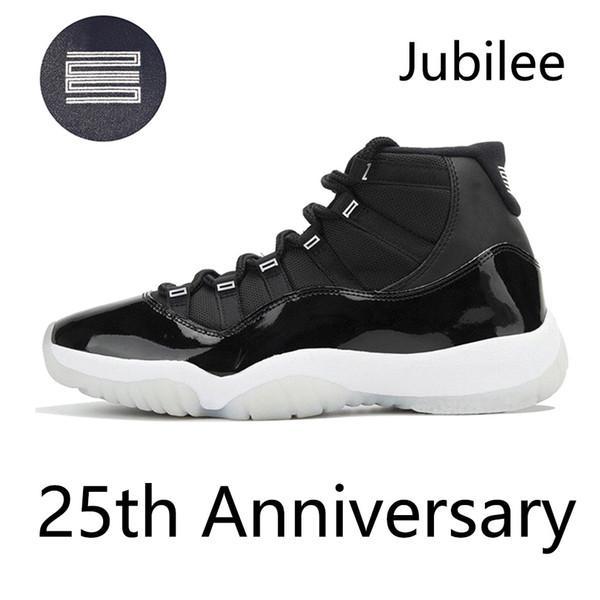 Con el recuadro 2020 Jumpman 11 11s zapatos de baloncesto para hombres Jubilee 25 aniversario Black White Mens Trainers Deportes Sports Sneakers des Chaussures