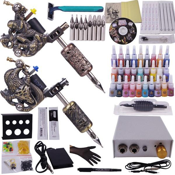 Tatuagem equipamentos profissionais completos tatuagem kit cosmético Superior tatuagem de tatuagem suprimentos