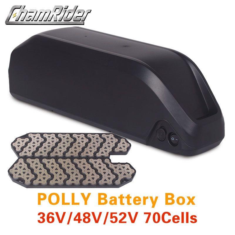 Battery box Battery Case Polly Down Tube Downtube E-bike Electric bike 10S 6P 7P 13S 14S 5P Nickle strips 18650 cells
