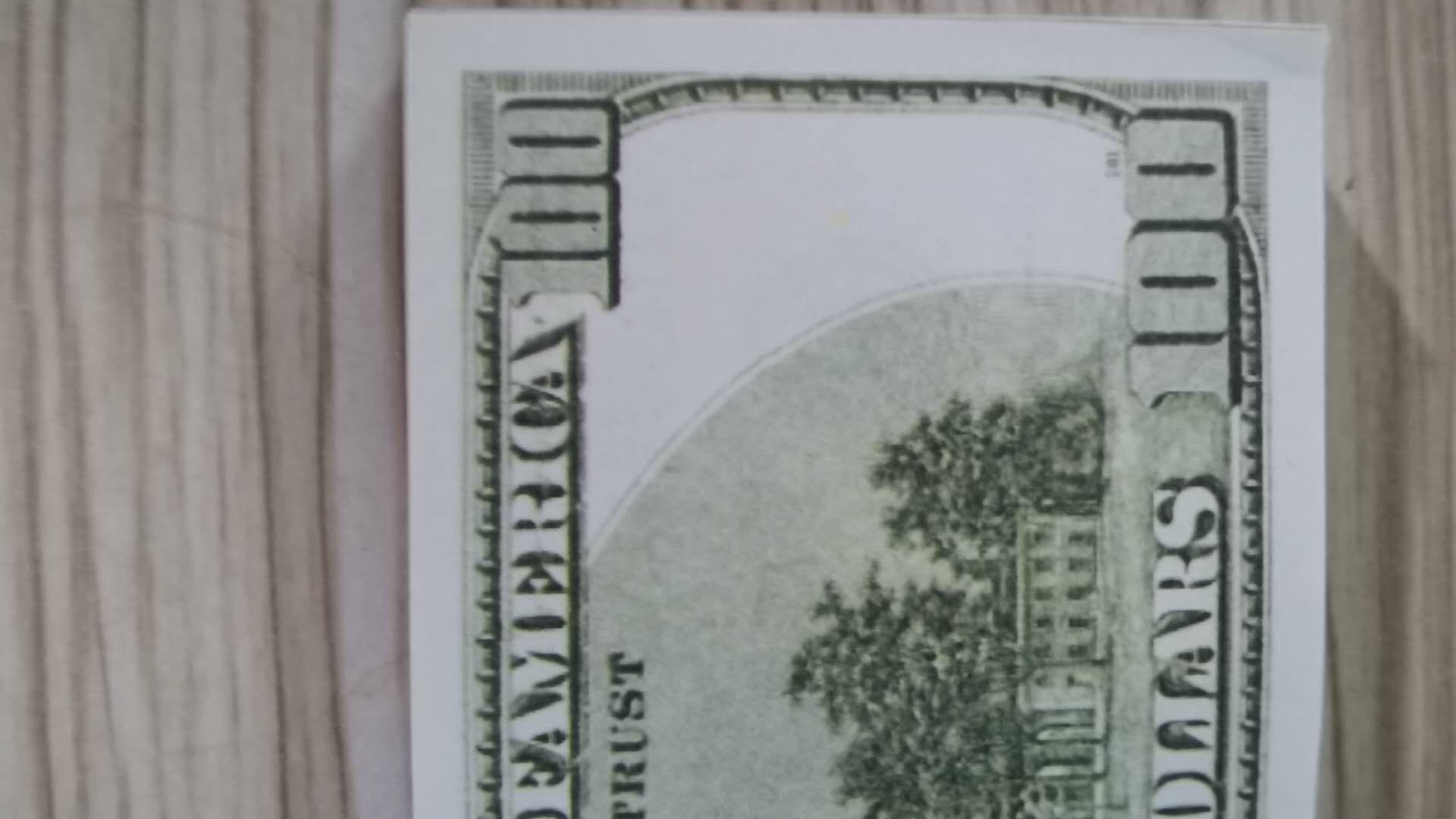 100 Доллора Опрусных денег Бар Од Деньги Faux Georet Деньги Партия Детская Игрушки Игрушки для взрослых 100 шт. Пакет 02