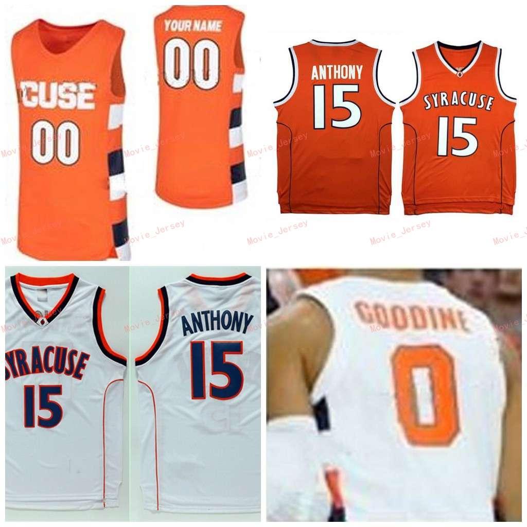 Cousue personnalisée 15 anthony 44 Derrick Coleman 11 Oshae Brissett 0 Adrian Autry 4 Antonio Balandi Syracuse Orange Hommes Femmes Jersey Jersey