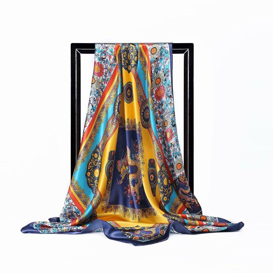 Frauen Kleid Pyjamas Stoff Druck Satin Charmeuse Dekoration Tuch Textilien DH02