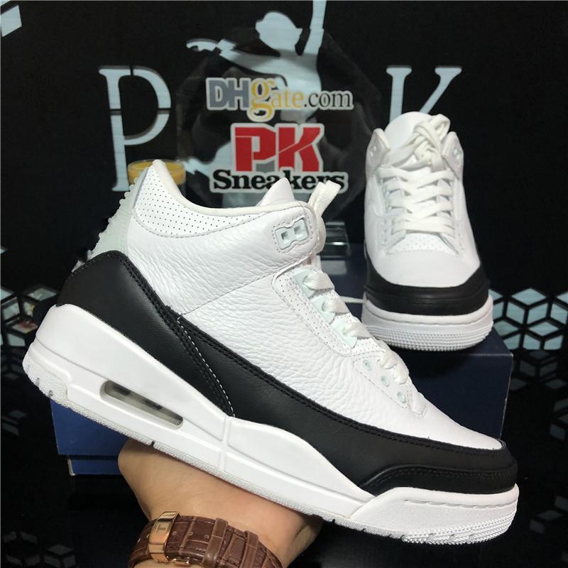 Top Quality UNC Black White Cement Jumpman 3 3s Mens Women basketball Shoes Fragment Flight Knicks Fire Red Bio Beige Mens Sports Shoes