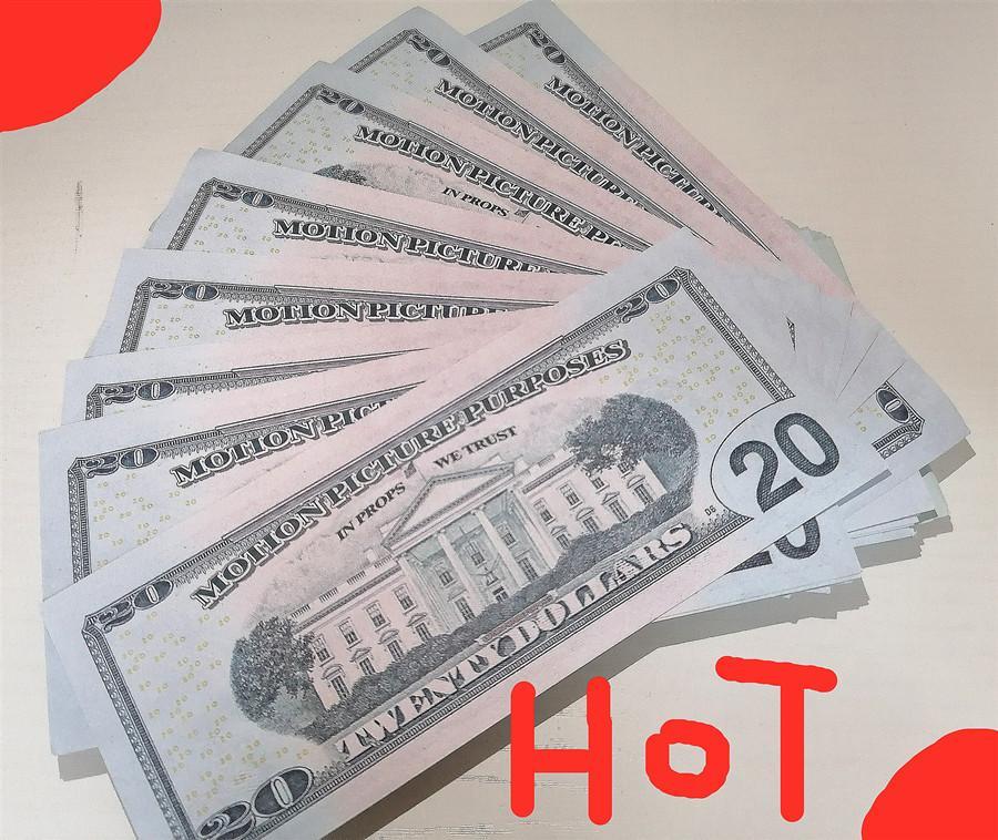 2020 Моделирование Бумага Валюта 20 Долларов Игрушечная бумага Токен Валюта Награда Детская игрушка Монета Банкнота Награда Пазл Новый