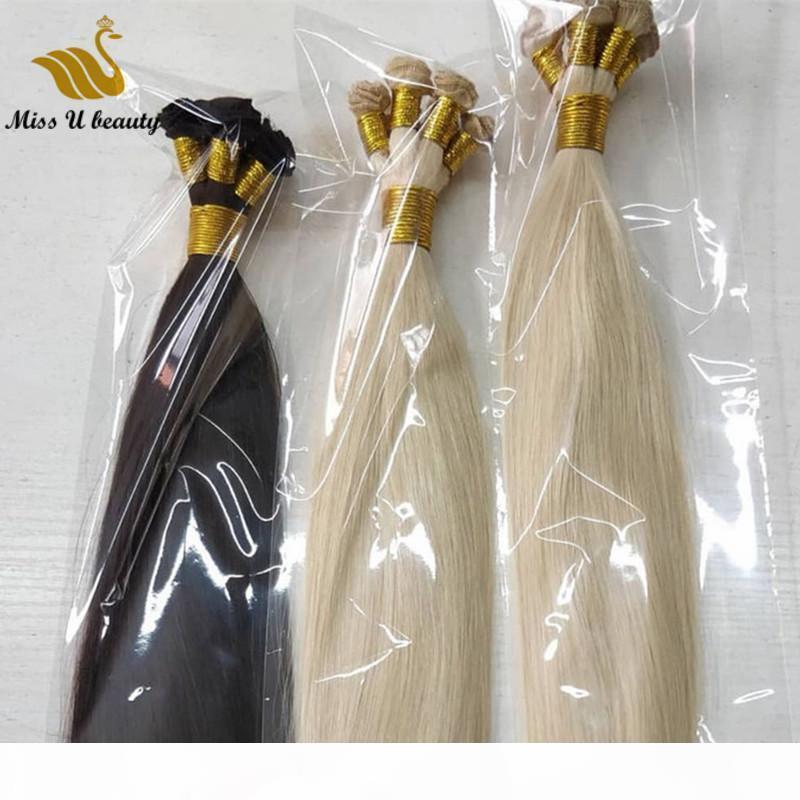 شقراء الشعر ملحقات اليد تعادل الشعر لحمة أبيض رمادي فاتح لون الشعر البشري ينسج باليد 100 غرام