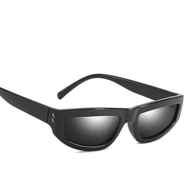 Солнцезащитные очки Овальный кот Eye Женщины Рис Ногтей Ретро Модный Все-Матч Улица Съемка Мода для мужчин и Окуло