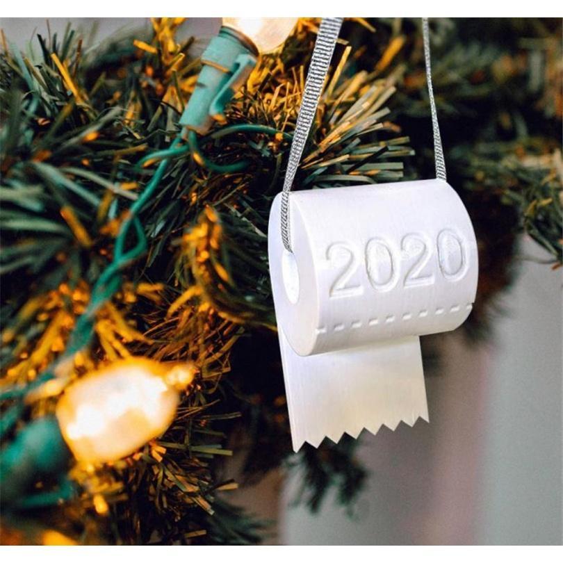 Новый 2020 Рождественский орнамент Туалетная бумага Рождественская елка украшения кулон туалет украшения бумаги висит d jlloqx sport77777