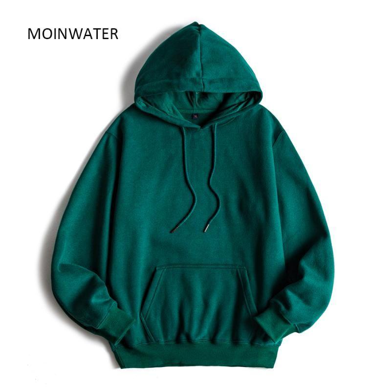 Sudaderas con capucha para mujer Moinwater Marca Mujer Fleece Lady Streetwee Sudadera Femenino blanco Negro Invierno Sudadera con capucha Outerwear MH2001