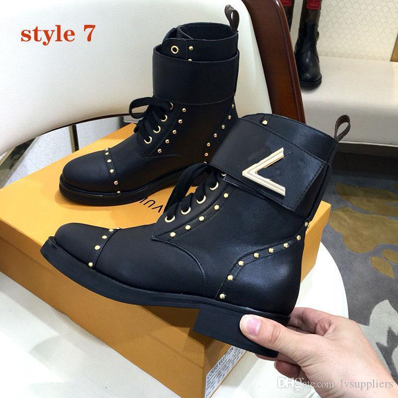 2021 мода Martin Boots и сапоги на высоком каблуке сапоги с кожей и тяжелой подошвой Досуг Леди Мартин Ботинки Большой размер