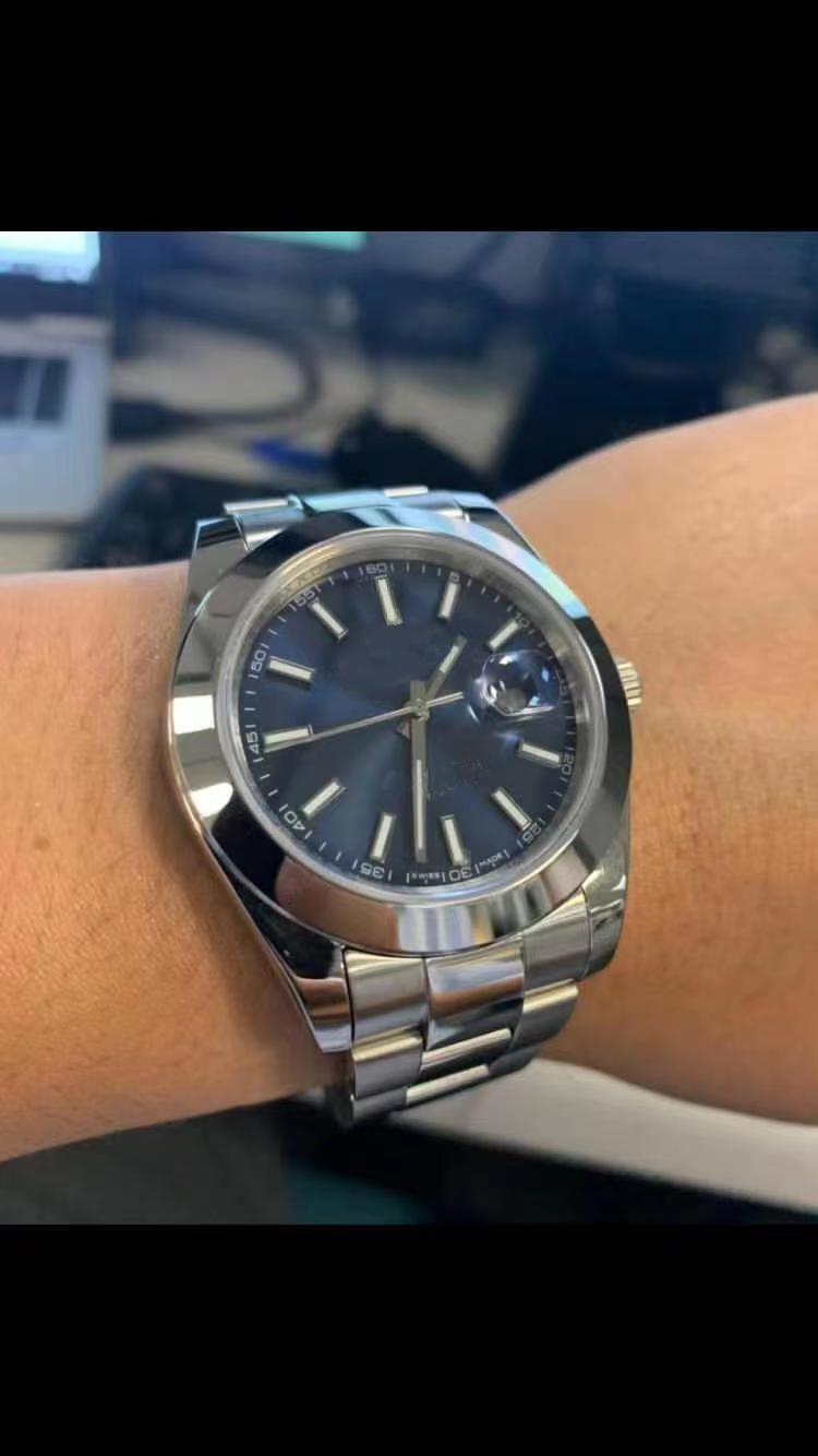 18 نمط U1 41 ملليمتر datejust ساعات الرجال الميكانيكية التلقائي ووتش reloj الأعمال الأزياء الصلب المشبك الفولاذ الصلب رجل ووتش