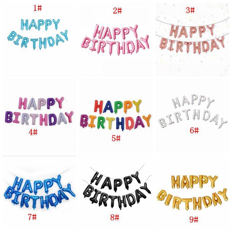 16 بوصة رسائل عيد سعيد احباط البالونات عيد سعيد حزب الديكور الاطفال الأبجدية بالونات الهواء استحمام الطفل إمدادات DBC BH4443