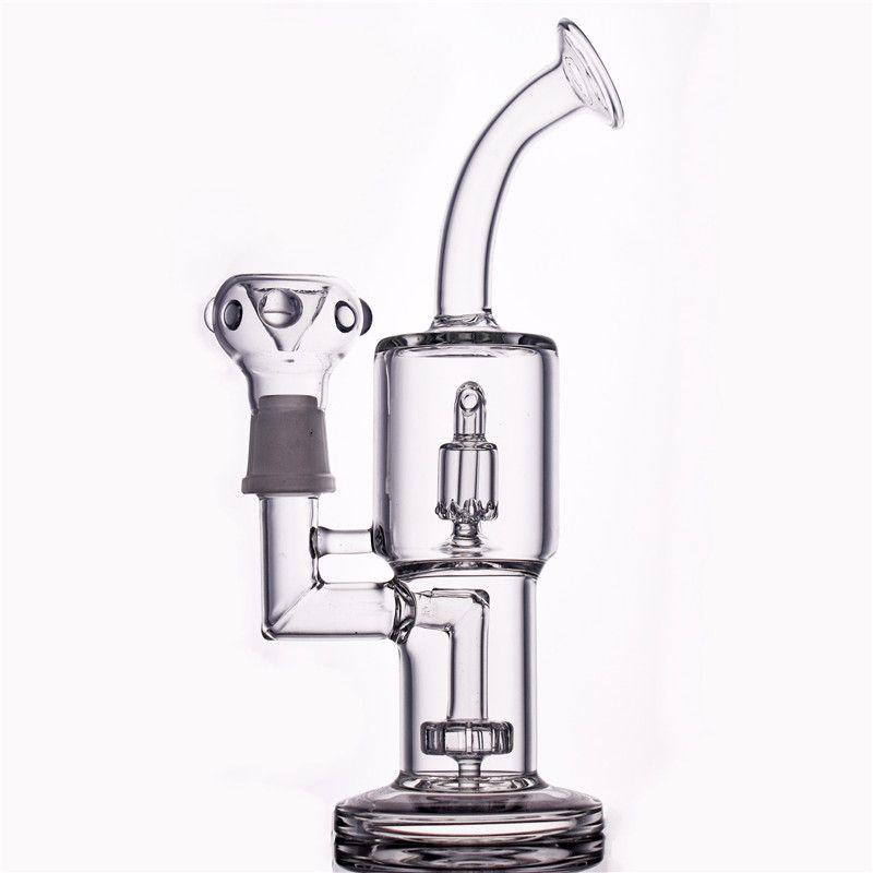 8.8inch Hitman bicchiere di vetro Bong doppio strato di filtrazione dell'impianto di perforazione Dab Rigs Spesso Birdcage Recycler olio all'ingrosso tubi di acqua con giunto 18 millimetri