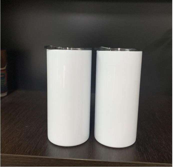 FedEx süblimasyon ısı transferi 15 oz 450 ml sıska tumbler metal saman ile ince bardak çift cidarlı paslanmaz çelik wfg