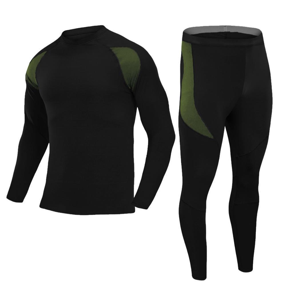 Новое термическое нижнее белье мужчины нижнее белье наборы сжатия флис пот быстрые сушки термо нижнее белье длинные Джонс